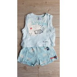 Ensemble short + marcel 6 mois