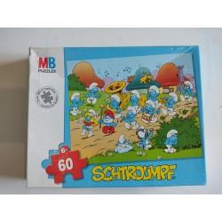 Puzzle 60 pièces Schtroumpfs